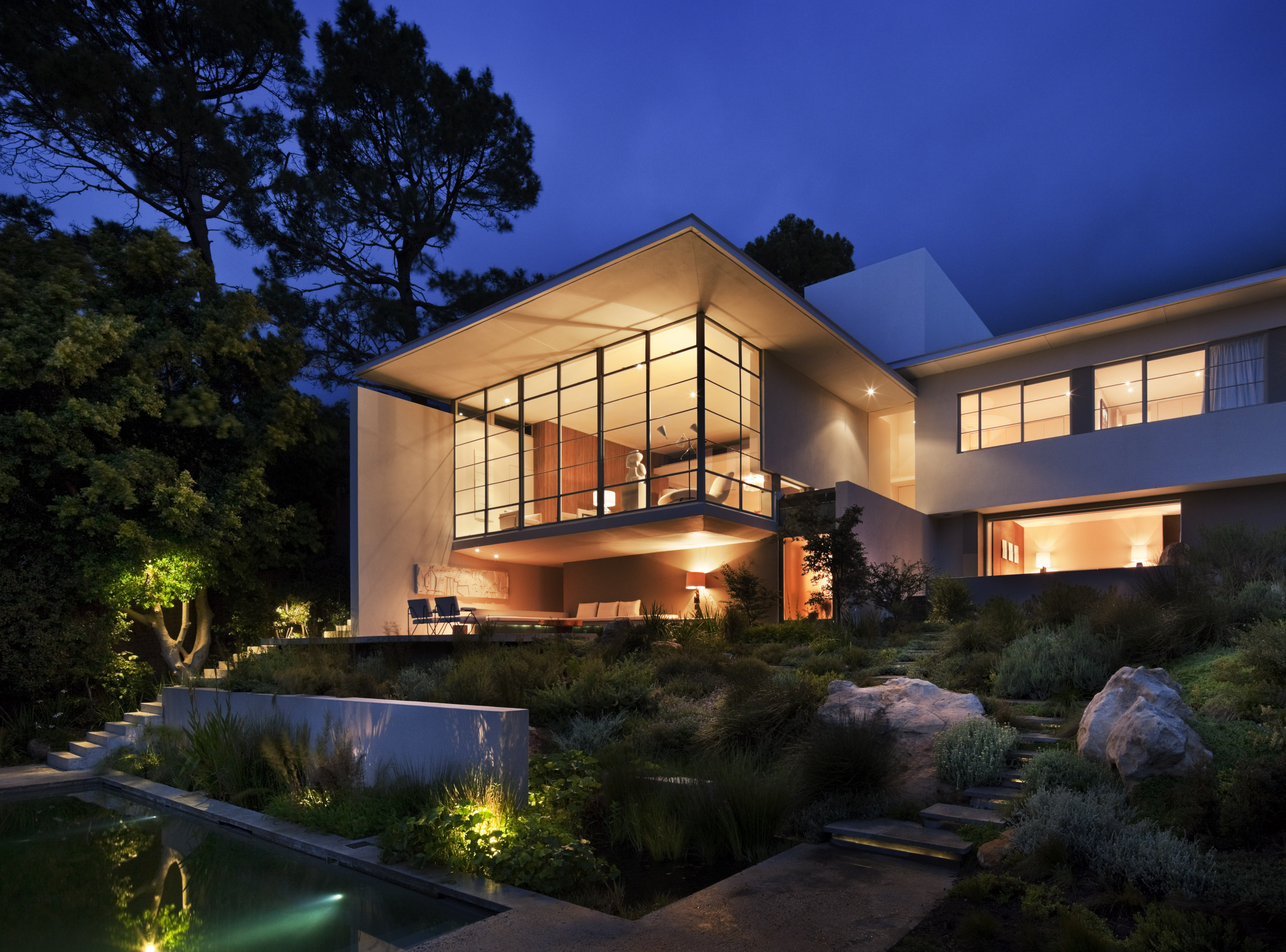 Asla 2010 professional awards bridle road residence - Architectural home designs in south africa ...