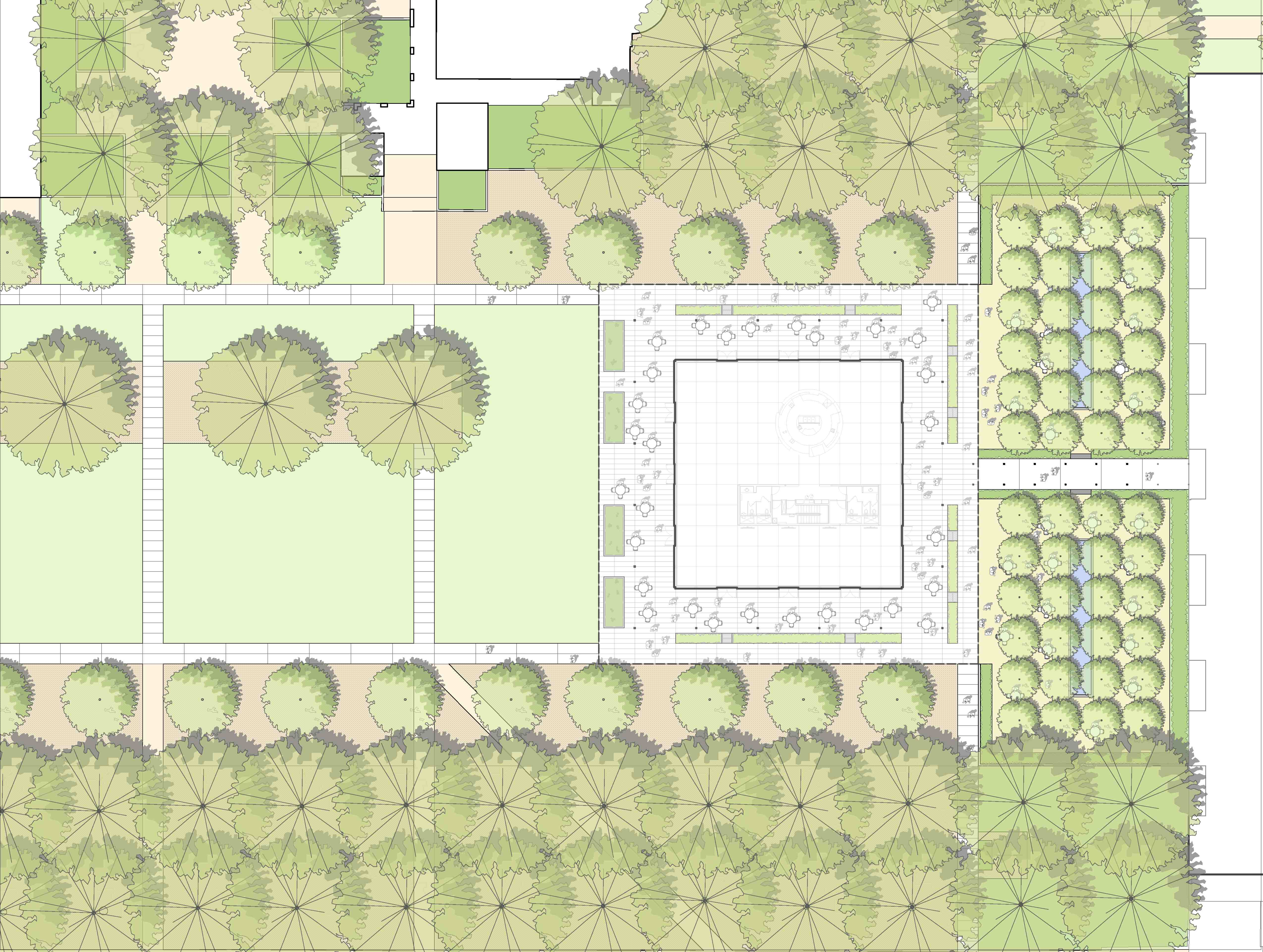 Elevation Plan Scale : Asla professional awards the brochstein pavilion at