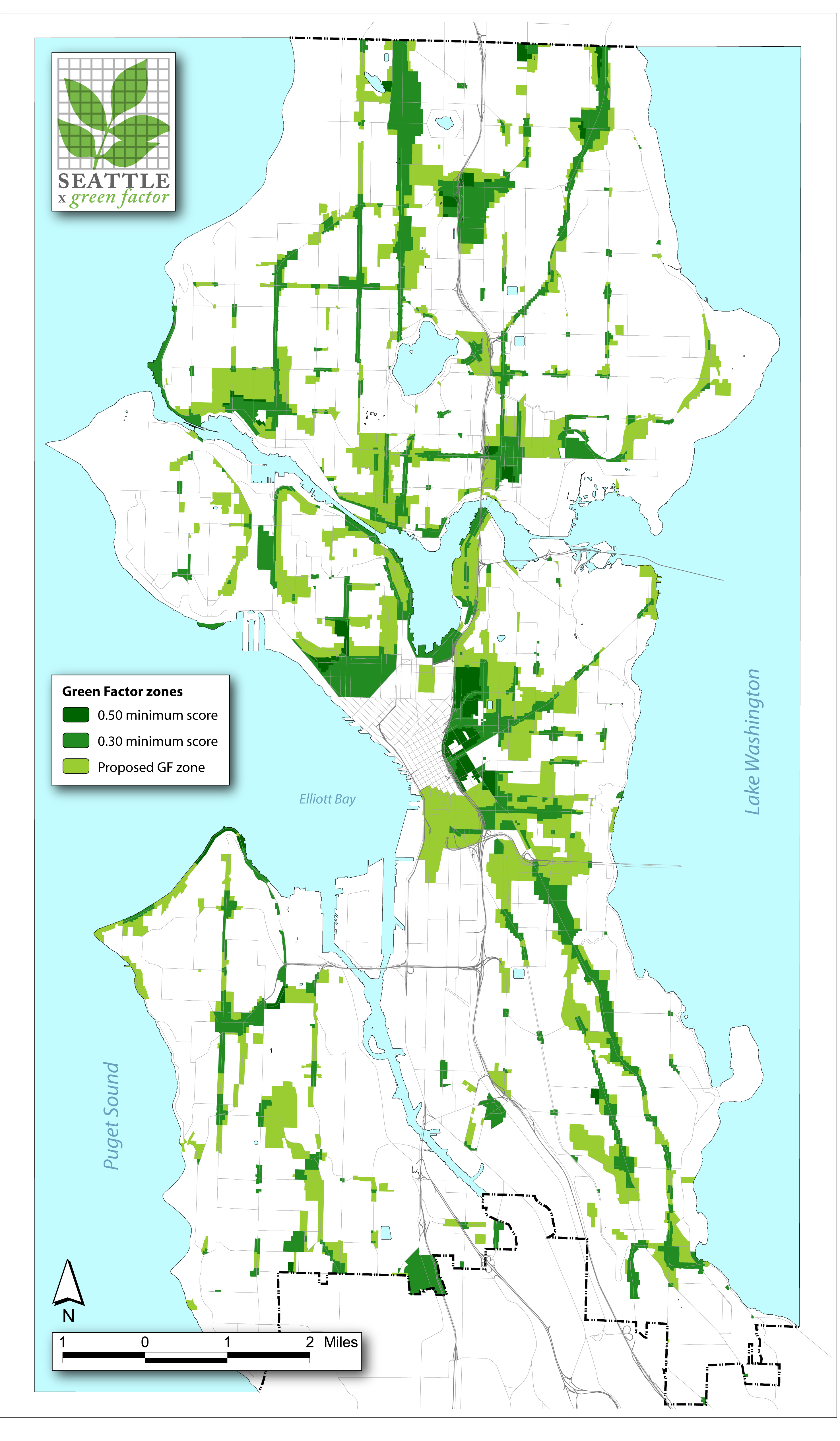 ASLA  Professional Awards Seattle Green Factor - Usa map seattle