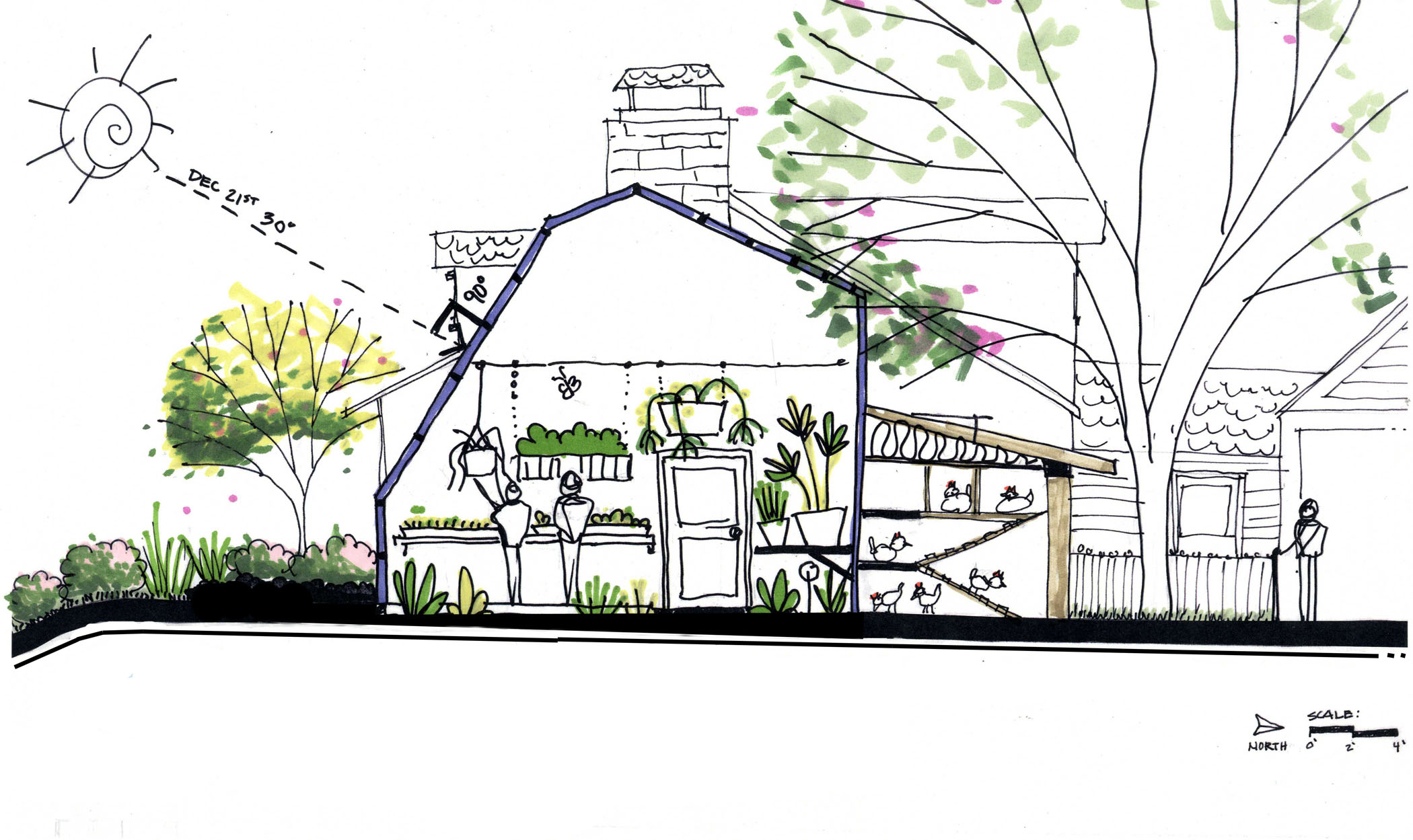 greenhouse chicken house combo - Chicken Co Op Plans And Greenhouse