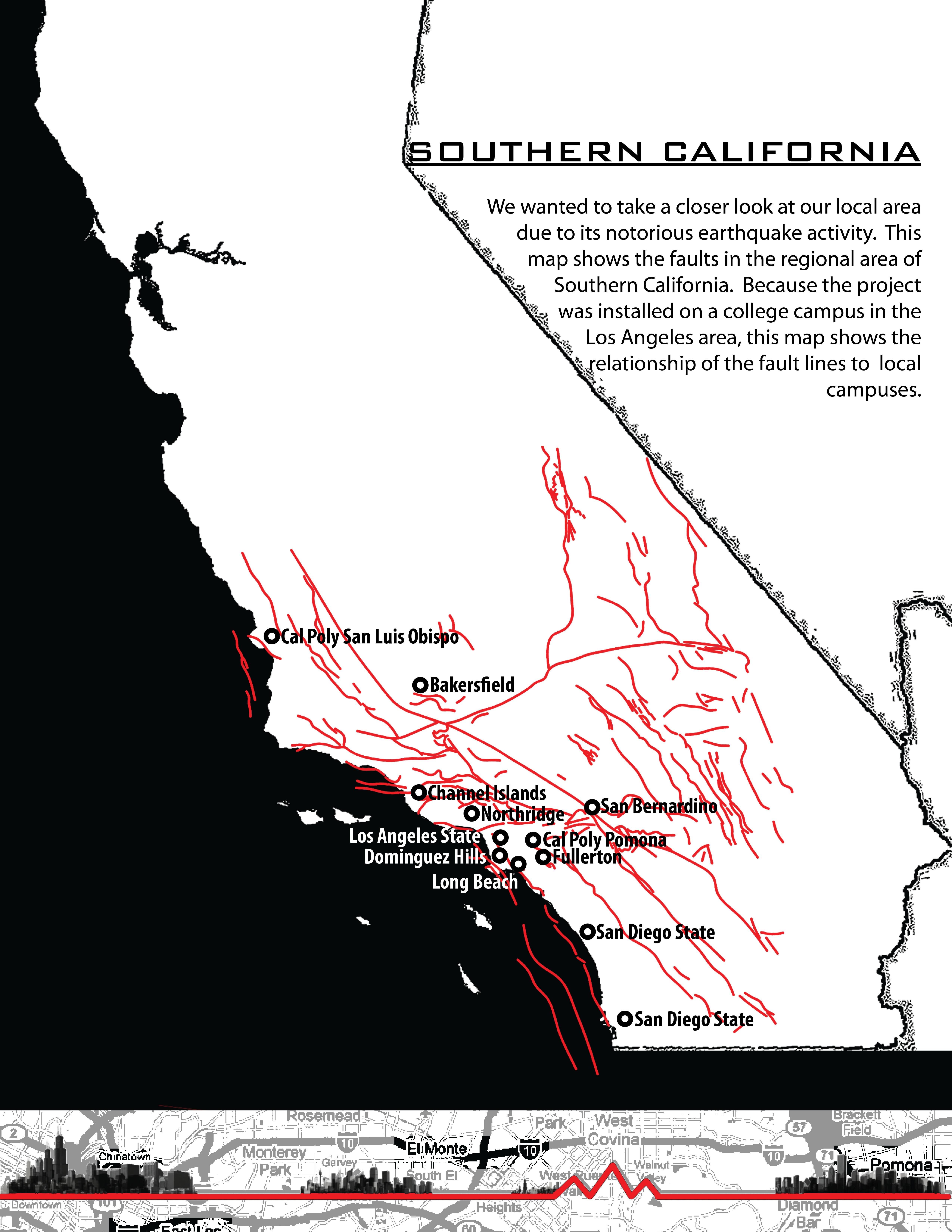 ASLA  Student Awards Your Fault - Los angeles fault zone map