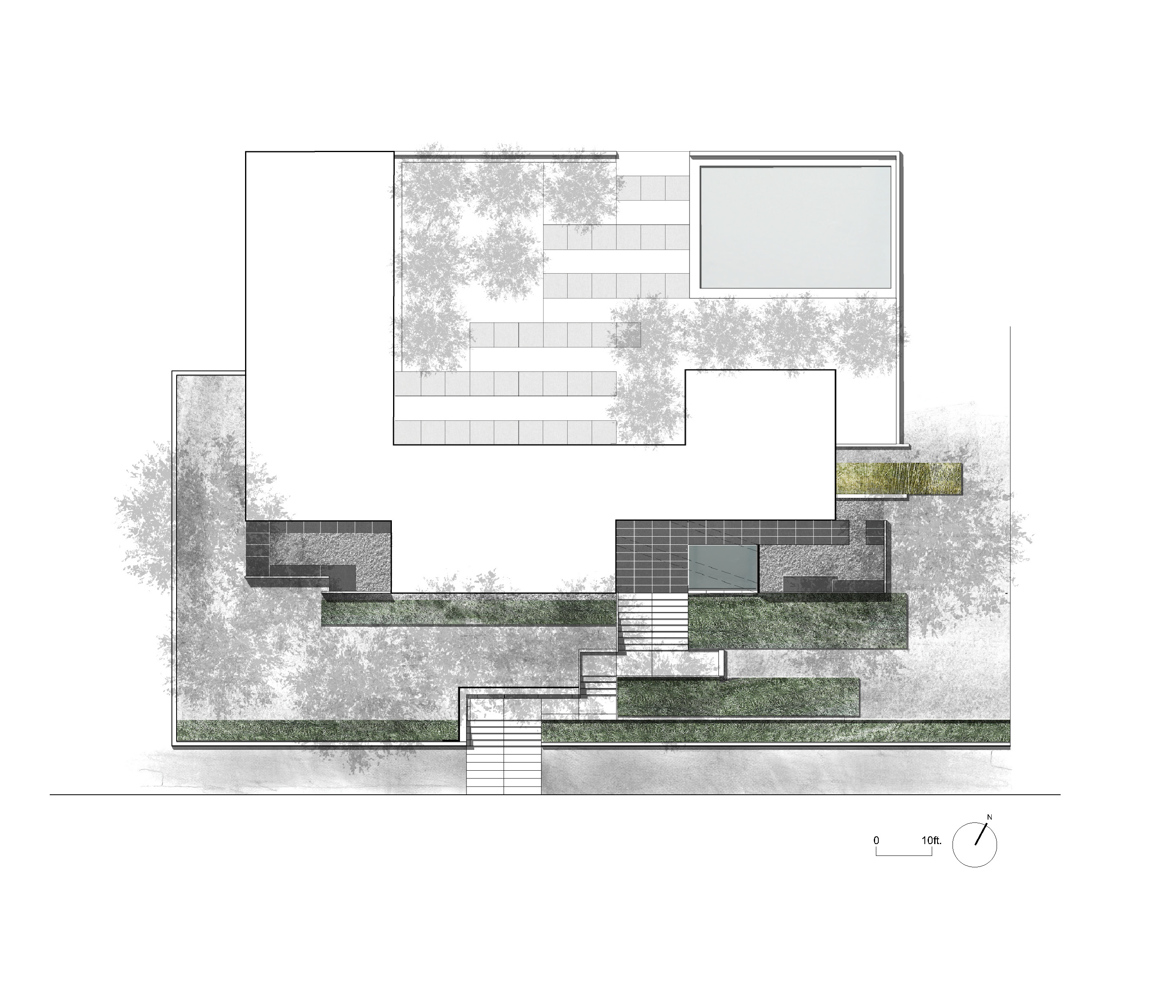 Asla 2011 professional awards peninsula residence for Site plan with landscape