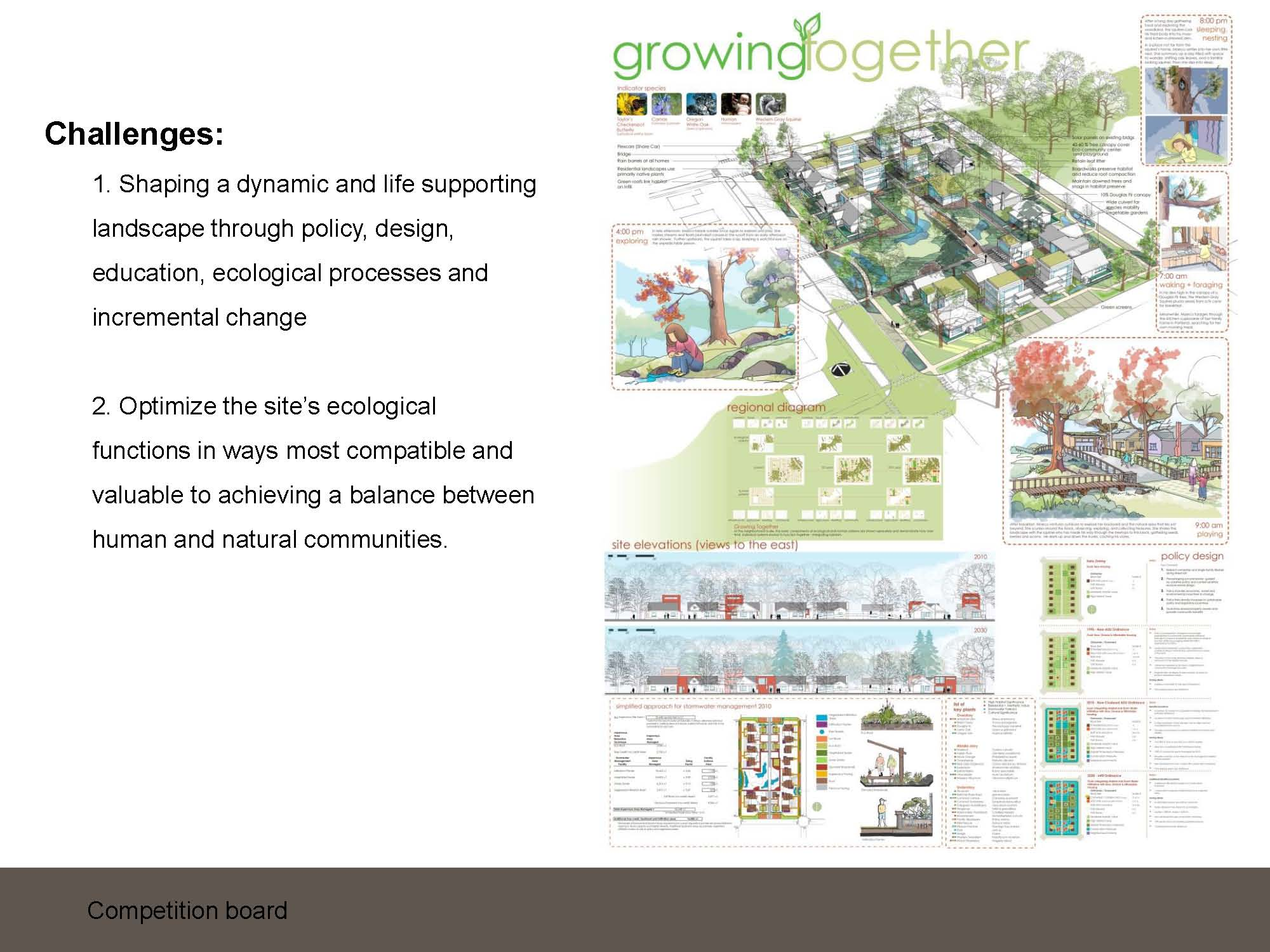 "Architecture Design Concept Statement asla 2011 professional awards | intergrating habitats: ""growing"