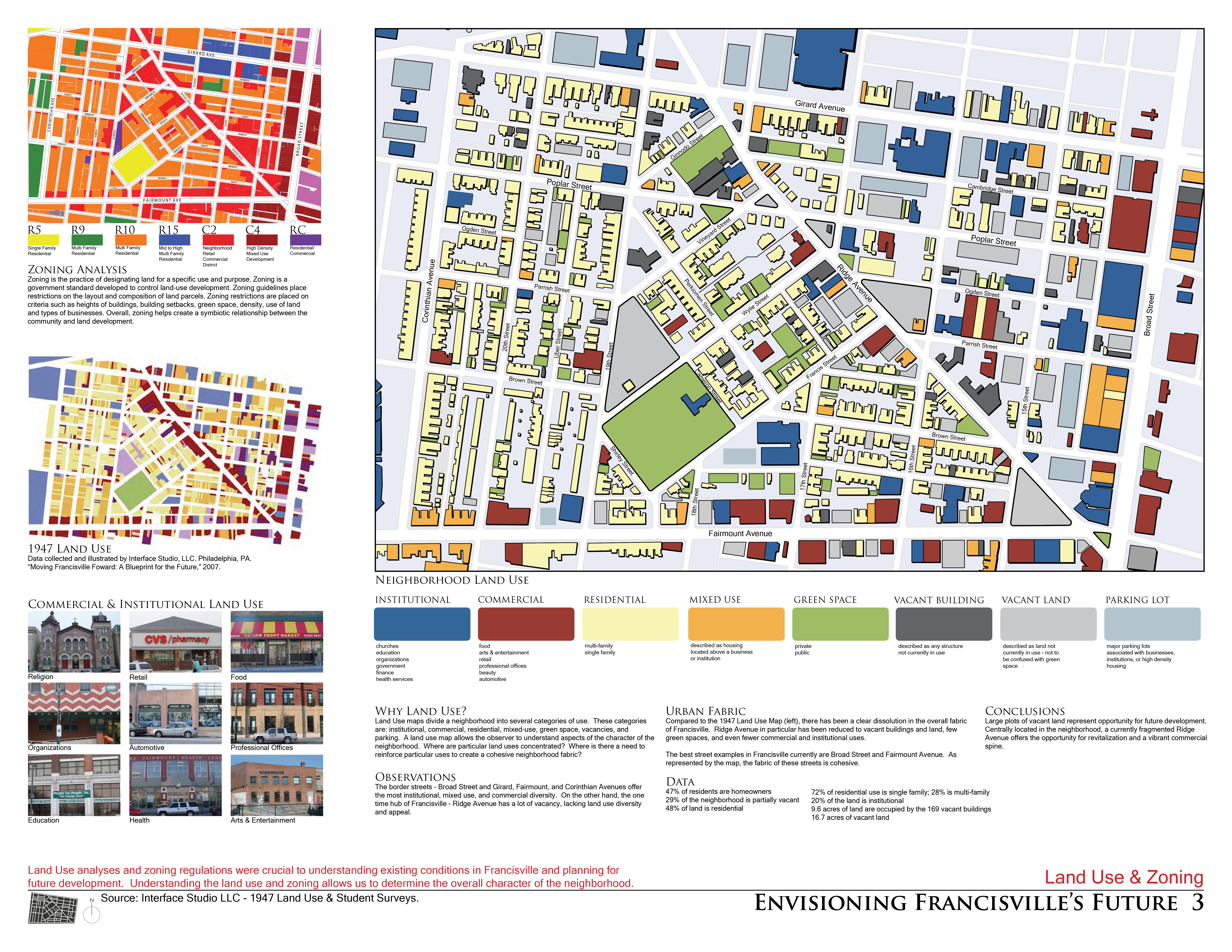 Asla 2011 student awards envisioning franchisville 39 s future for Architecture zoning