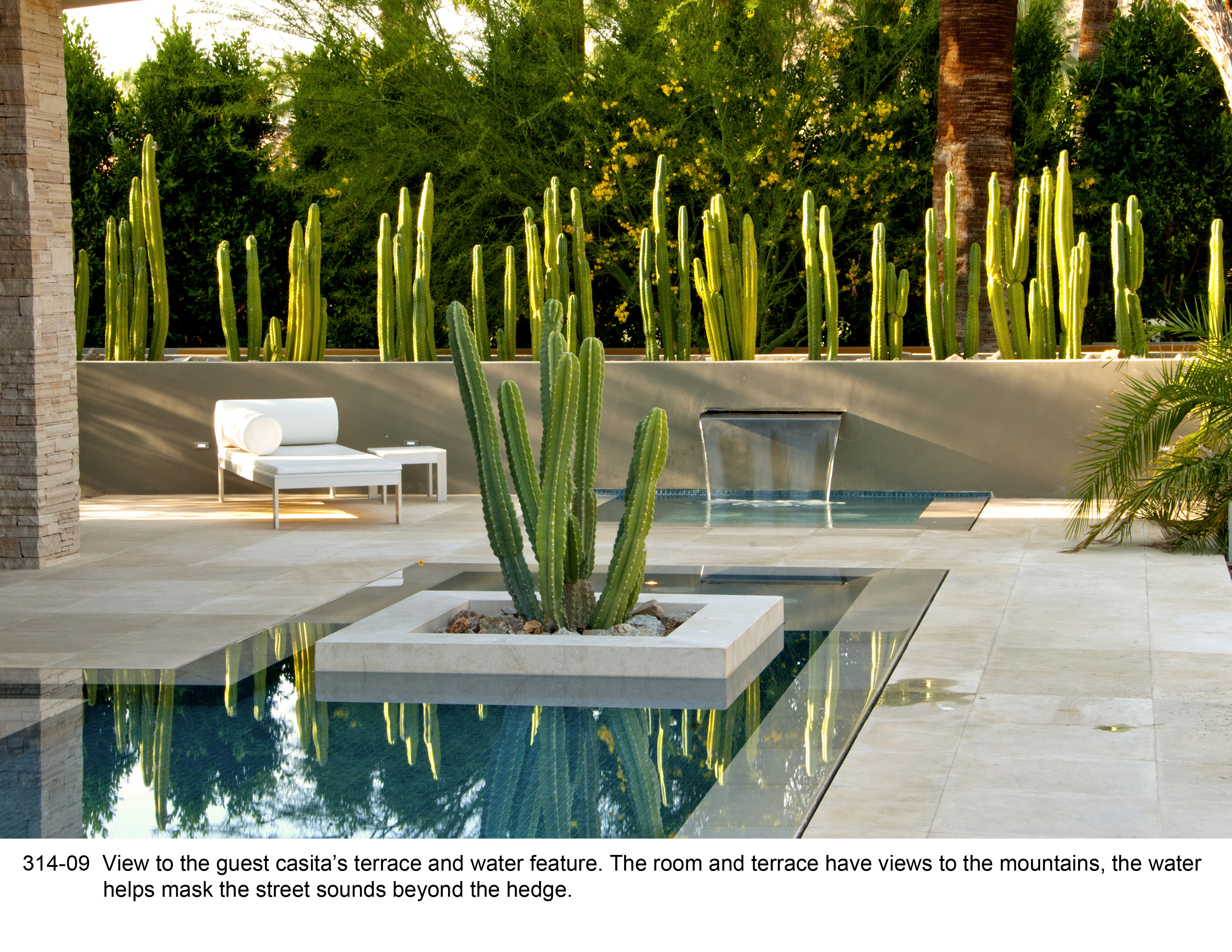 Asla 2012 professional awards new century garden a for Mid century modern water feature