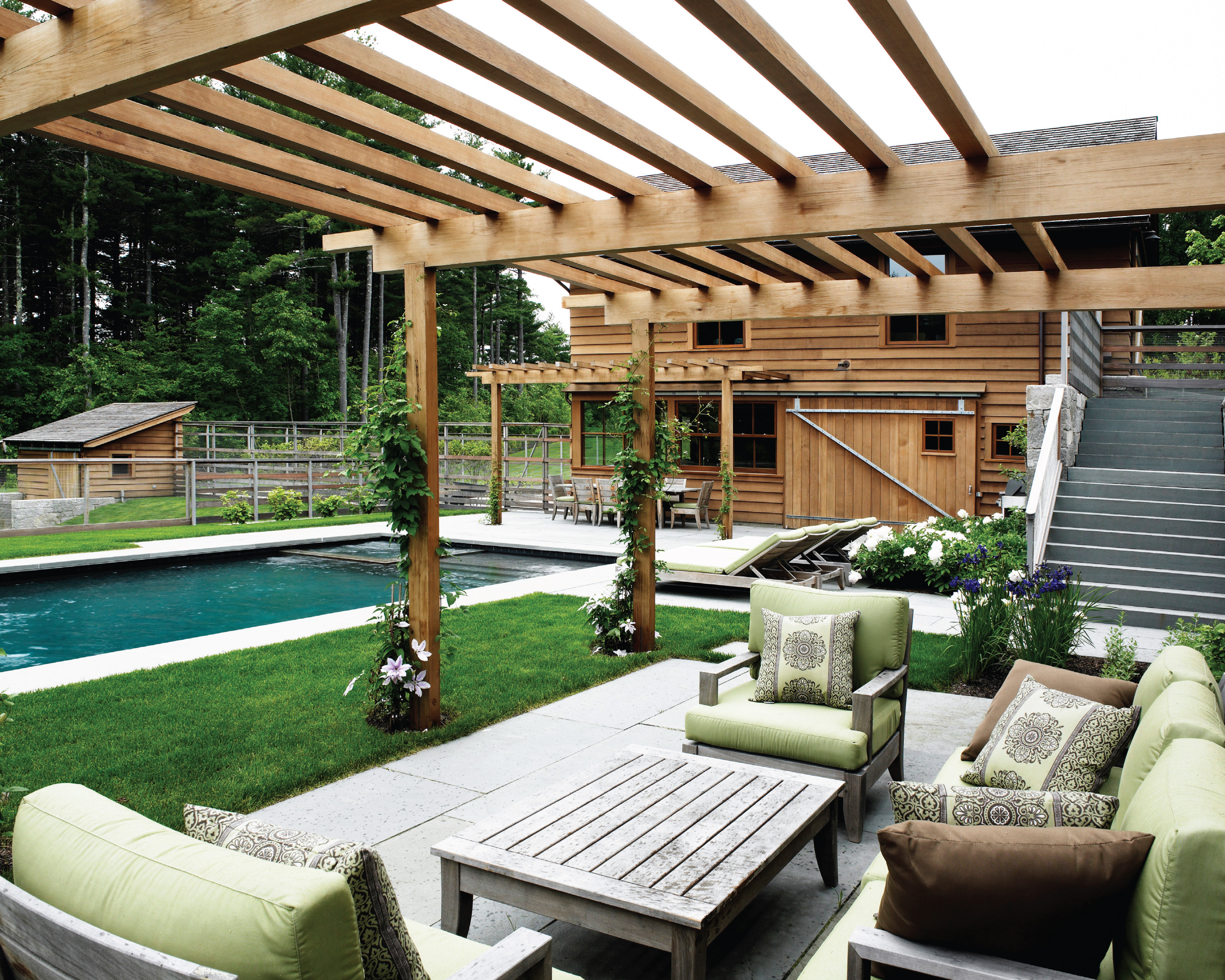 Asla 2012 professional awards maple hill residence for Award winning patio designs