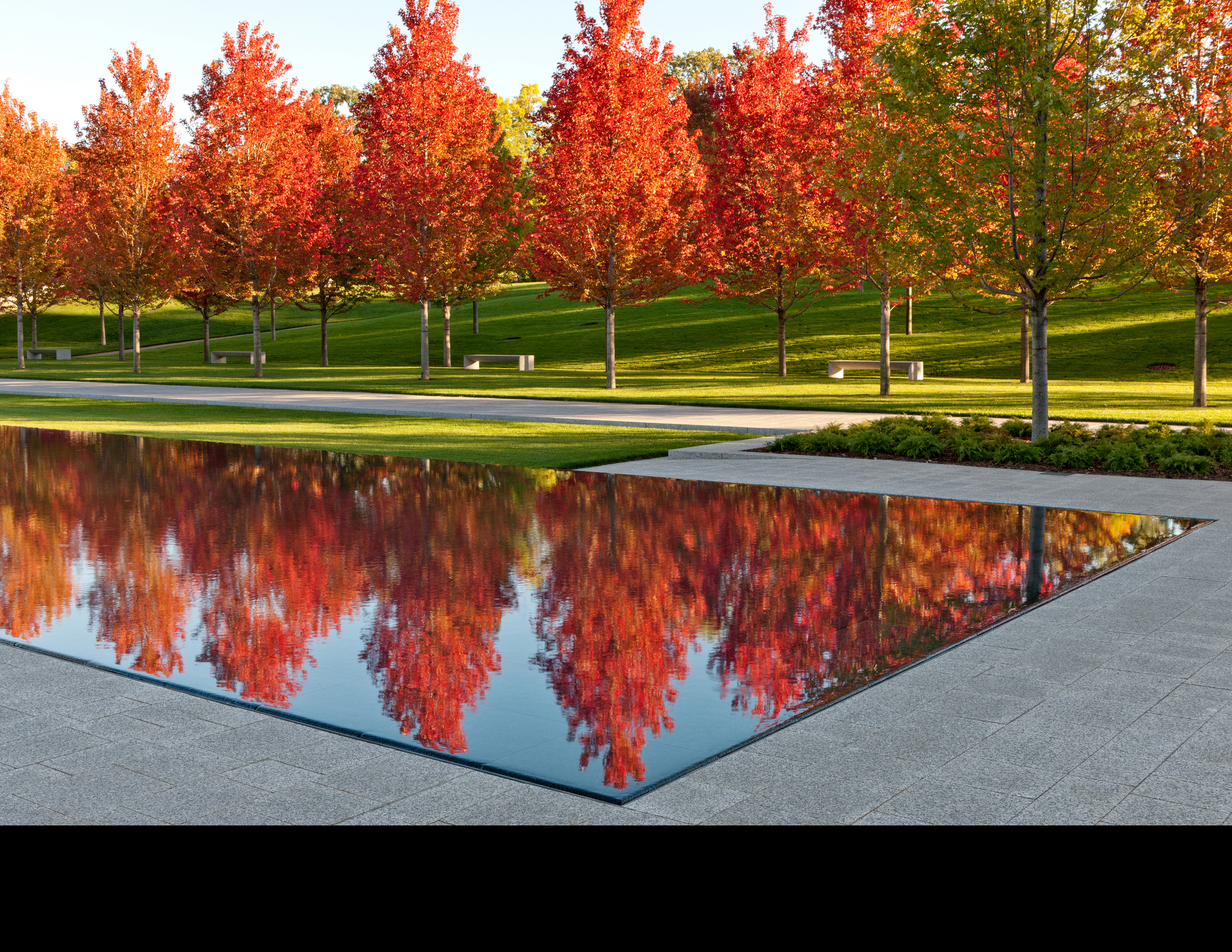 Asla 2013 professional awards lakewood garden mausoleum for Garden reflecting pool