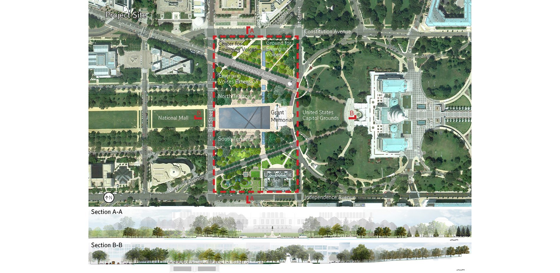 Unified Ground Union Square National Mall Competition 2014 ASLA