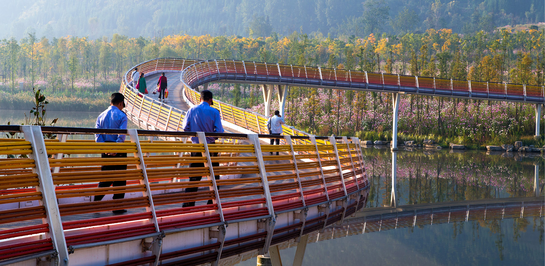 Liupanshui China  City pictures : The rainbow bridge is an iconic cultural landscape element that ...