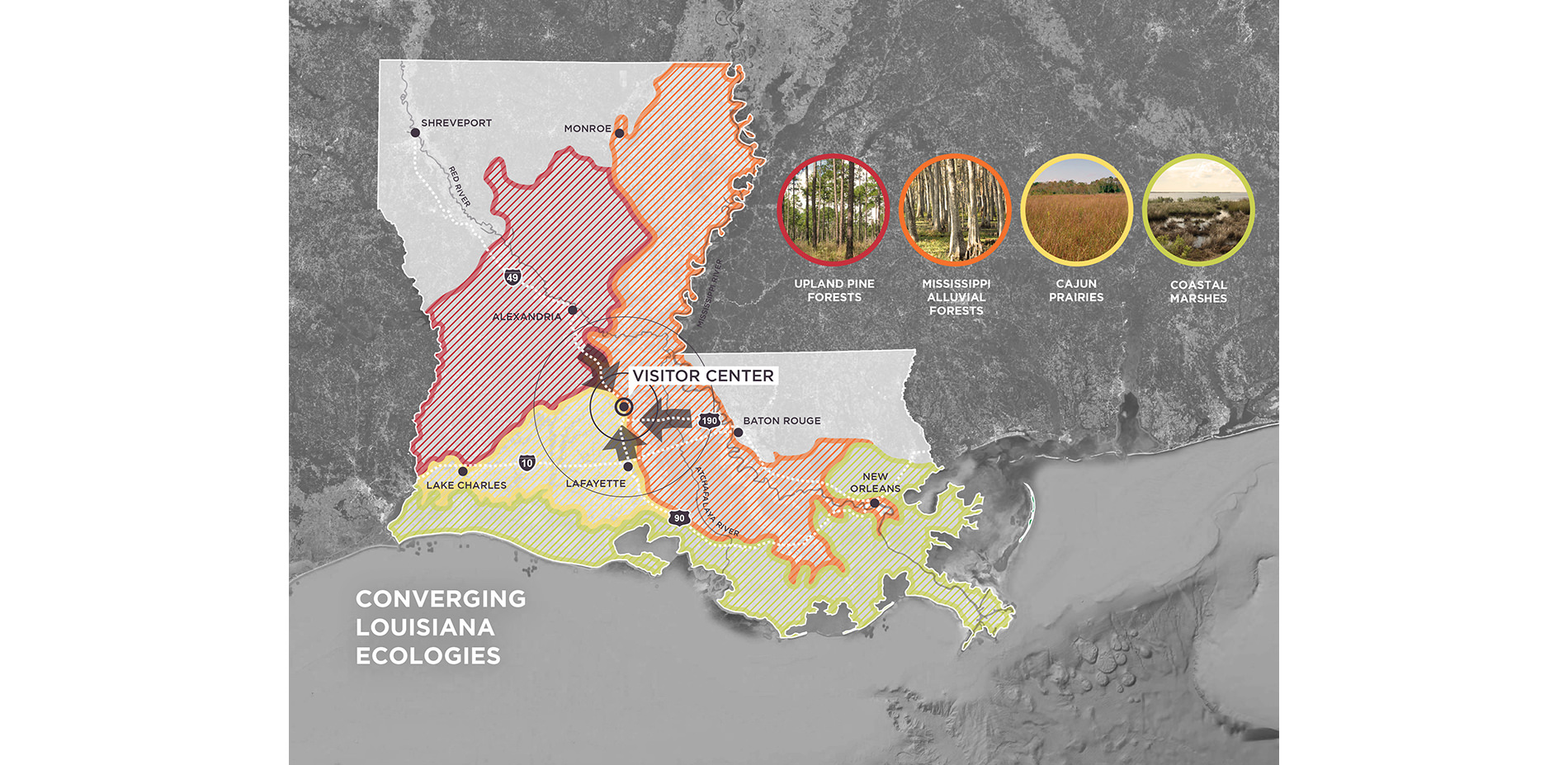 Louisiana Ecologies Map Converging Ecologies as a