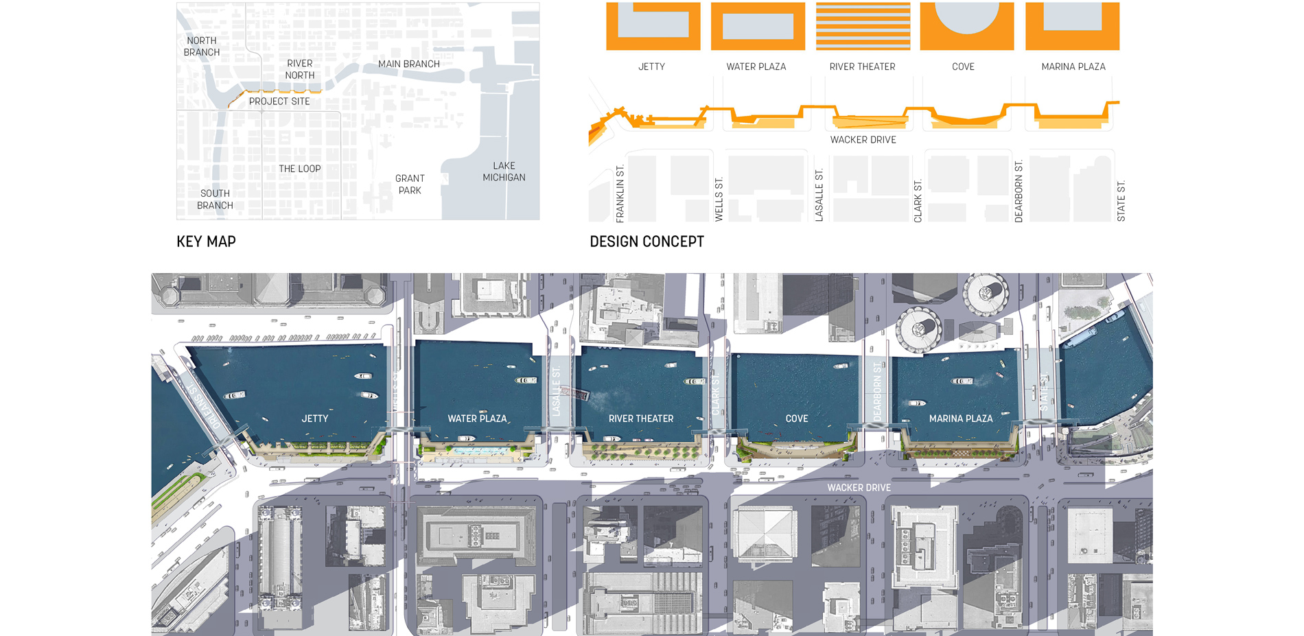 Chicago State Street Shopping Map on