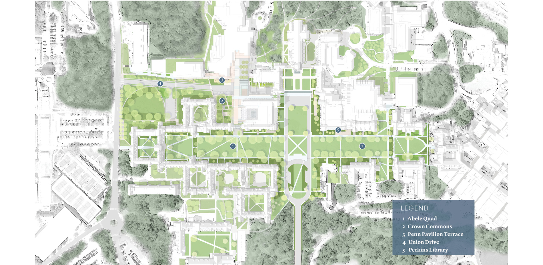 Duke University Map on