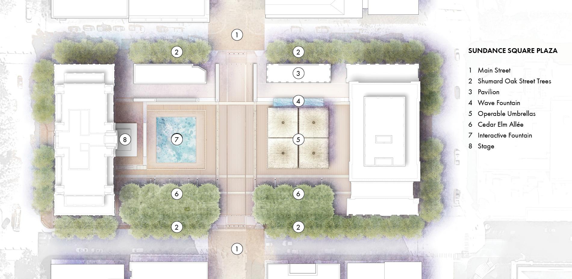 Sundance Square Plaza, The Heart of Fort Worth   2019 ASLA Professional Awards