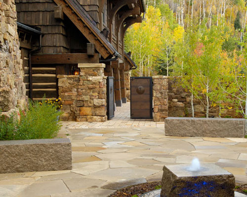 Asla 2007 professional awards for Courtyard stone landscape