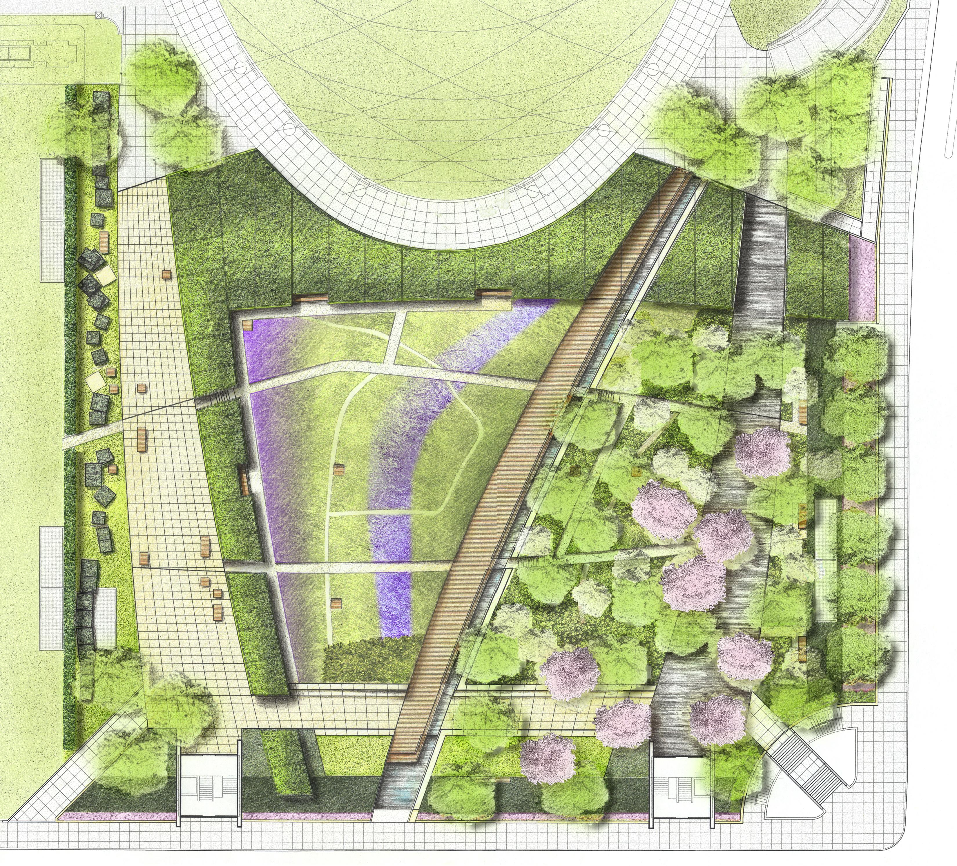 Millennium park the lurie garden landscape voice for Landscape planting plan
