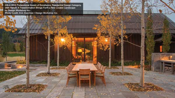 ASLA 2016 Award of Excellence Residential Design Category DBX Ranch