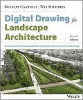Digital drawing for landscape architecture cover