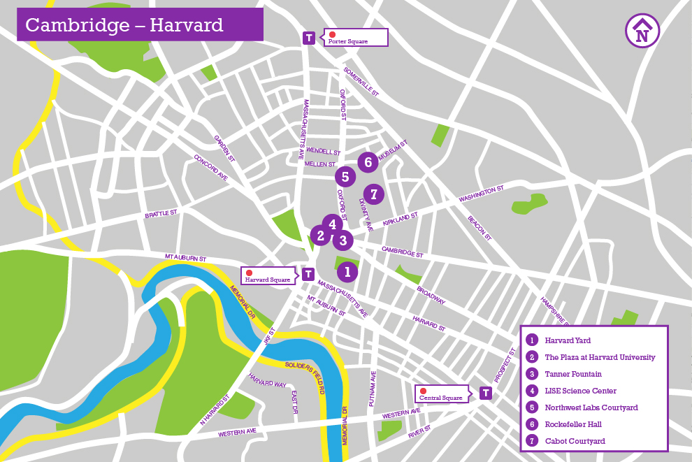 Cambridge Harvard University The Landscape Architects Guide To - Map of harvard university