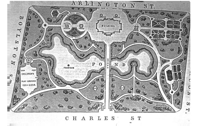 Boston Public Garden Plan