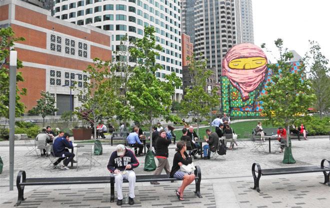 Dewey square the landscape architect s guide to boston for Boston dewey square mural