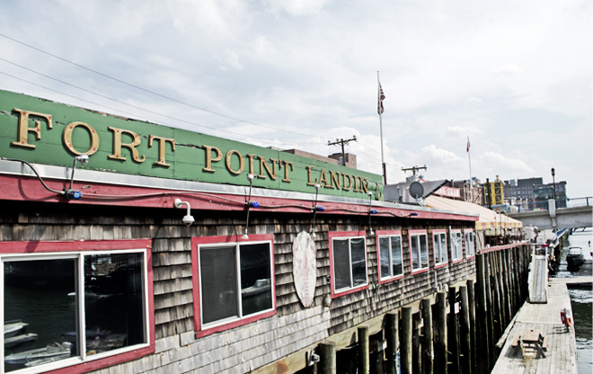 Fort Point Landing and Barking Crab