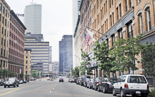 Summer Street Looking Toward the Financial District