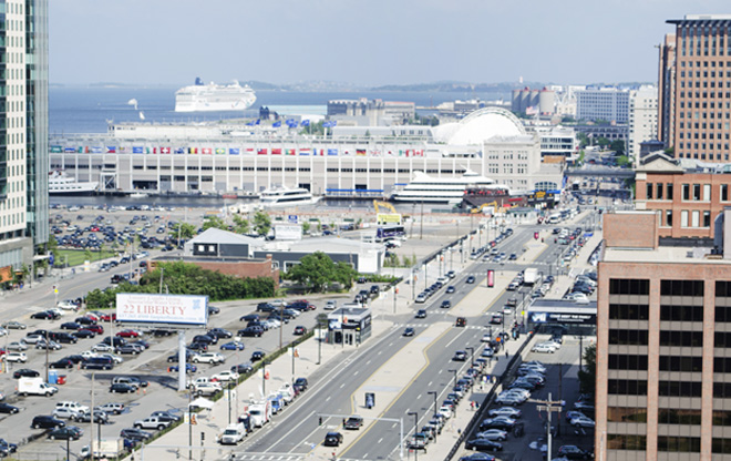 Bird's Eye View of Seaport Boulevard