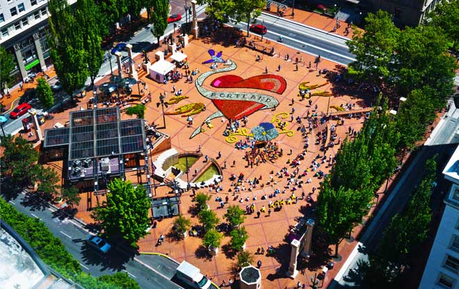 pioneer courthouse square the landscape architect�s