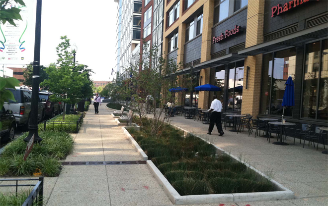 Constitution square the landscape architect s guide to for Furniture zone sidewalk