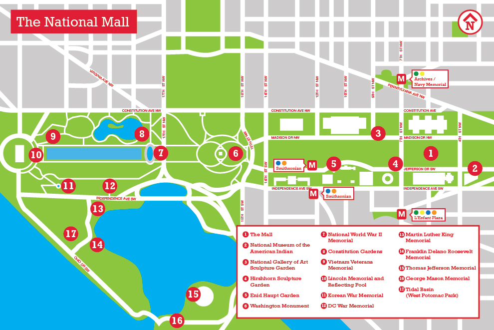 Rare image pertaining to printable map of washington dc mall